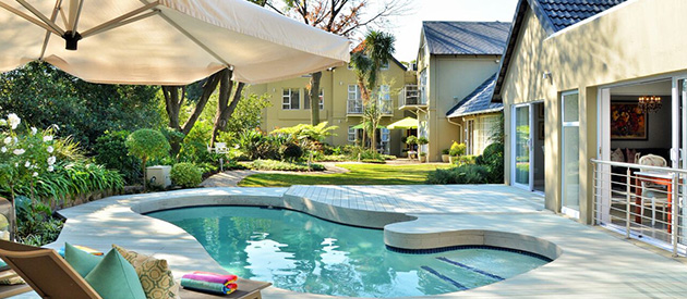 leaves signature guest house accommodation rivonia, sandton luxury business accommodation, signature bnb in johannesburg with home-cooked meals